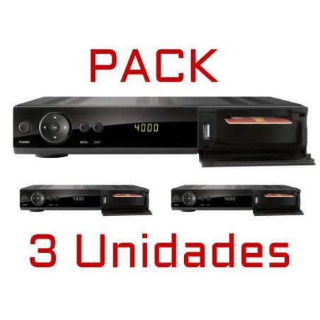 Pack 3 unidades Ferguson Ariva 150 HD COMBO SAT/TDT 1080p 400 Mhz Mediaplayer 1 CR