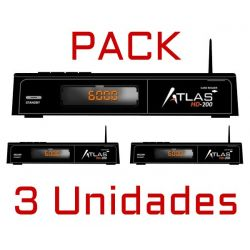PACK 3 Units Receiver Satellite CRISTOR ATLAS HD 200s WIFI TWIN (2 SAT) KYNG + HDMI