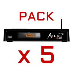PACK 5 Units Receiver Satellite CRISTOR ATLAS HD 200s WIFI TWIN (2 SAT) KYNG + HDMI