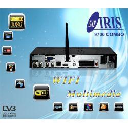 PACK 3 Receptor Satelite IRIS 9700 COMBO HD WIFI 1080 PVR IPTV Envio Gratis con HDMI