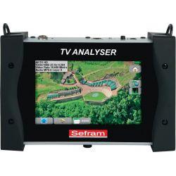 "Medidor de campo profesional SEFRAM 7848 HD DVB-T/T2/S/S2, 7"" touch screen"