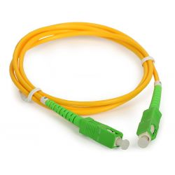 Fiber optic cable 5m, SC/APC to SC/APC simplex singlemode 9/125
