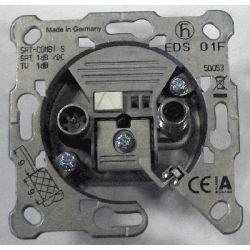 Toma separadora final con conector F EDS 01F Triax/hirschman de 5 a 2.4 Mhz