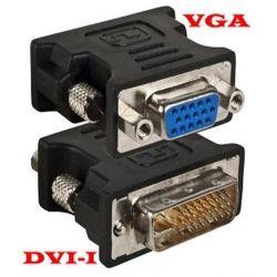 Adaptador DVI-I macho 24 + 5 dual-link / VGA hembra