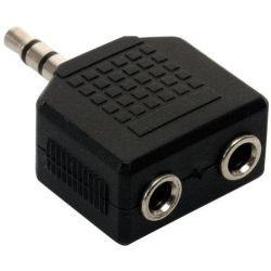 Adaptador de audio Jack 3.5mm macho a 2 jack 3.5mm