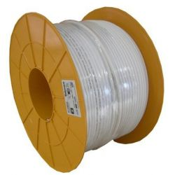 Câble coaxial en bobine plastique 250m SK2000plus Blanc Televes