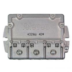 Répartiteur 4 directions 5-2400 MHz 9/7.5dB EasyF Televes