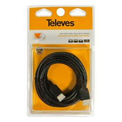 Câble HDMI haute vitesse avec Ethernet mâle - mâle Noir 3m Televes