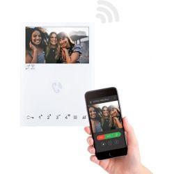 Comelit 6741W Mini Handsfree Wifi Monitor,White, Sbtop
