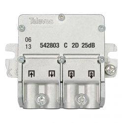 Mini-diverter 5-2400MHz connector EasyF 2 outputs 25dB type C Televes