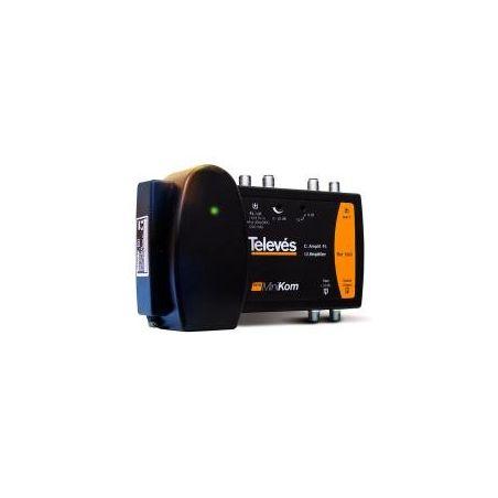 Central amplificadora de línea Televes MATV Minikom BP 1e/1s VHF/UHF