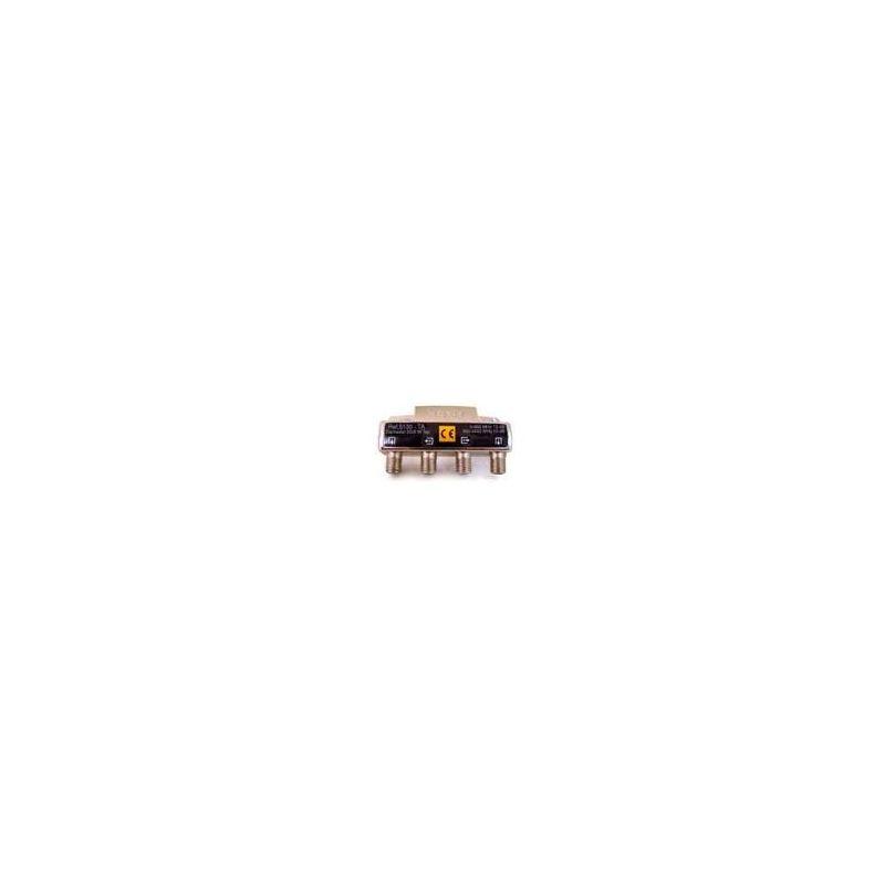 Derivador Televes con conector F de 2 salidas (12 dB)