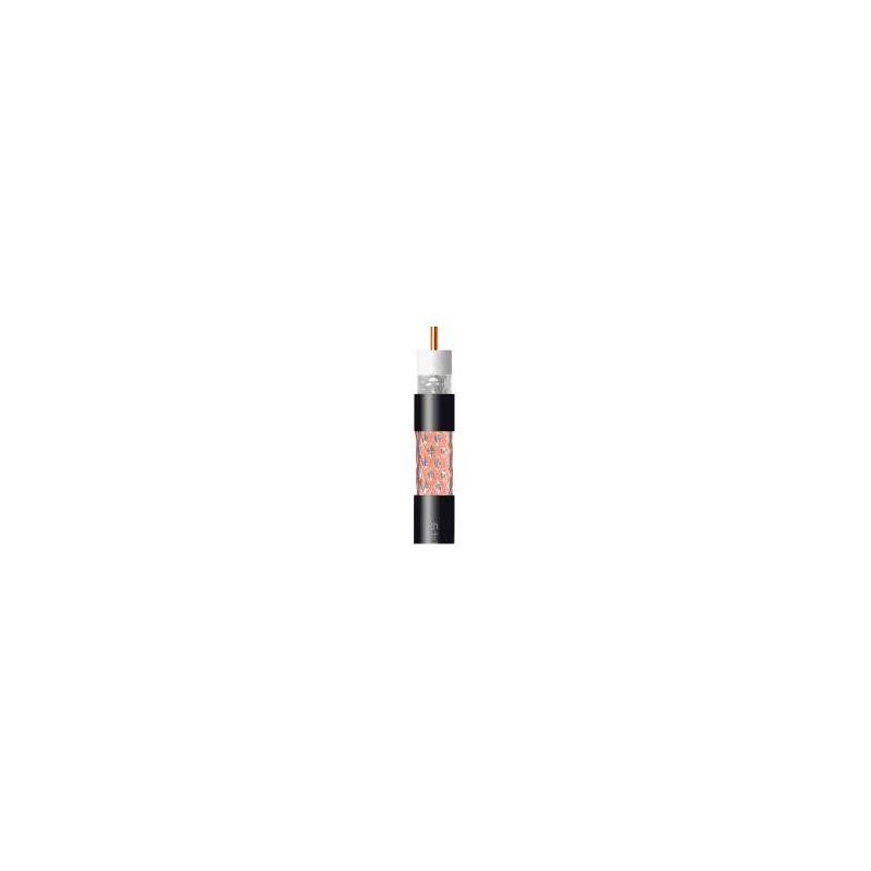Cable coaxial Televes cobre-cobre TR165 ICT2 negro PE (bobina 250m)