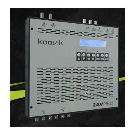 Koovik  2AVPro3  encoder A/V SD MPEG-2 , modulador TDT y streamer