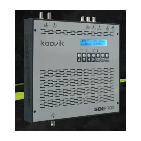 Koovik Encoder SDI, modulador TDT HD y streamer IP COFDM DVB-T 1080p Gigabit