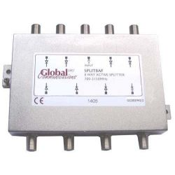 Distribuidor Splitter ACTIVO 8 Vias 700 - 2150 MHz Global Communications