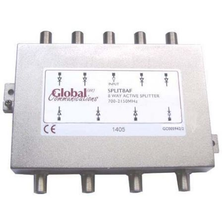Distribuidor Splitter ACTIVO 8 Vias 700 - 2150 MHz Global Communications