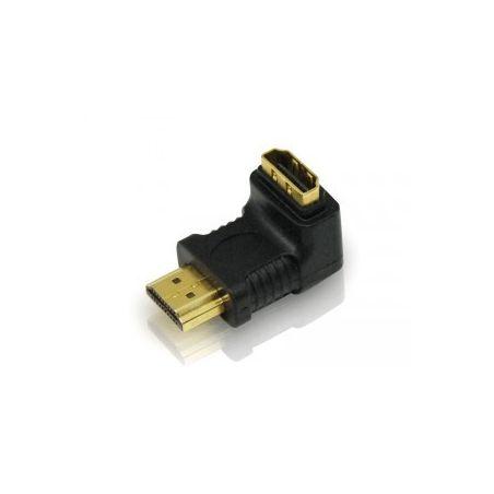 Adaptador HDMI Macho/Hembra acodado 90º