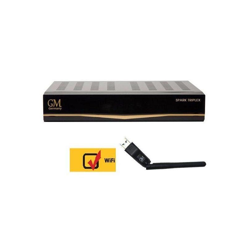 Golden Media Spark TRIPLEX (2 SAT+ 1 TDT/C) 540Mhz 1080p PVR Envio Gratis + WIFI