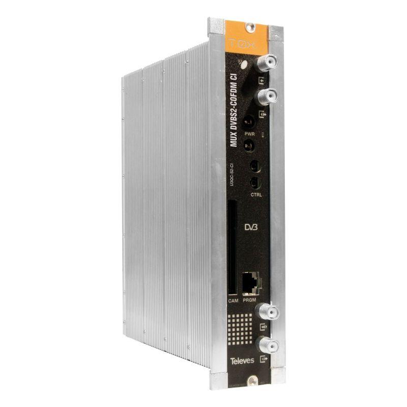 Transmodulator with remultiplexado Single DVBS/S2 - DVBT with CI Televes