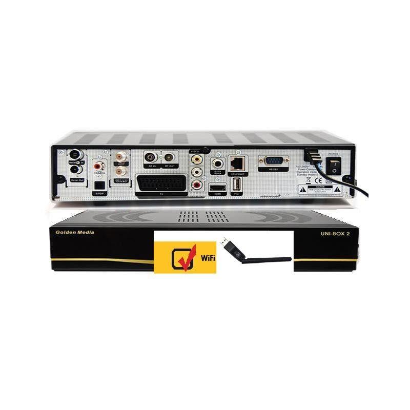 Golden Media UNIBOX 2 COMBO HD SAT/TDT-T2 Multimedia 1080p Envio Gratis + Wifi