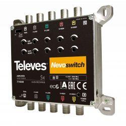 "NevoSwitch Amplifier 5x5 ""F"" 12/15dB 110 dBμV Televes"