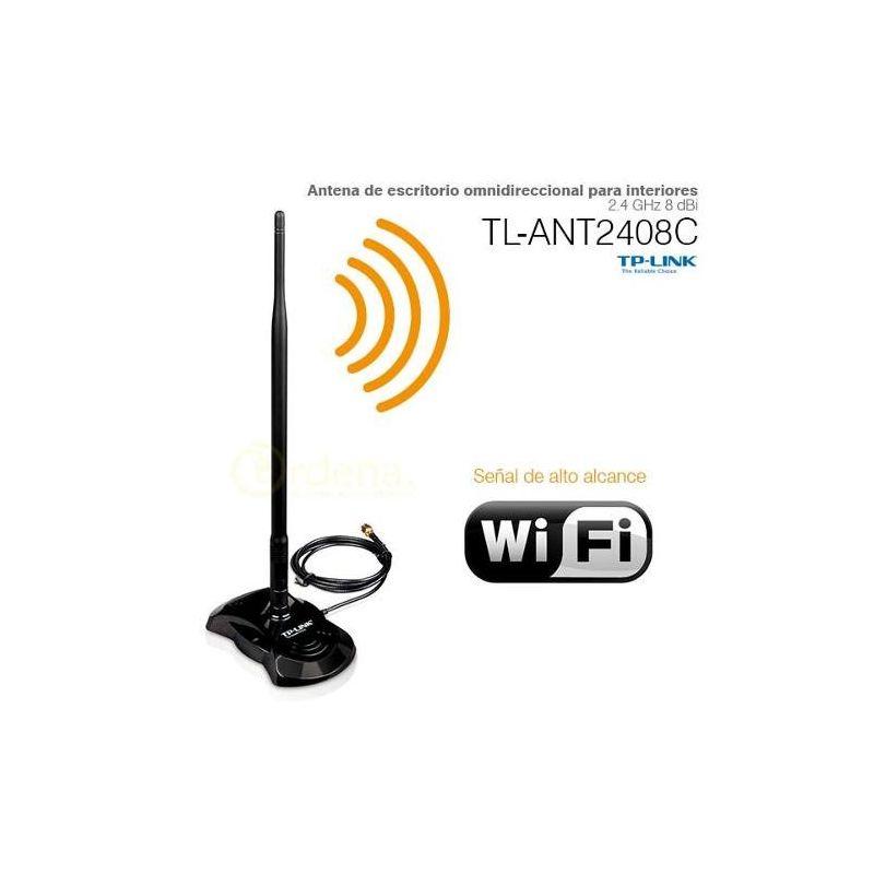 Antena de escritorio omnidireccional para interiores 2.4 GHz 8 dBi TP-LINK TL-ANT2408C