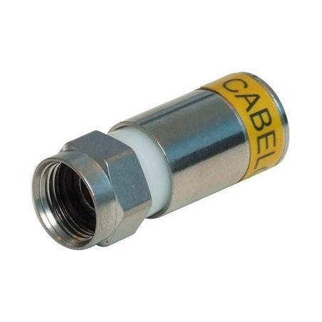 Conector compresion Cabelcon RG6 F Macho 4.9 mm Caja de 100 unidades