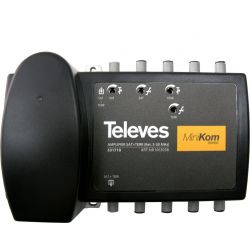Central banda ancha MiniKom F 1 entrada C.Retorno/VHF/UHF/FI1 Televes