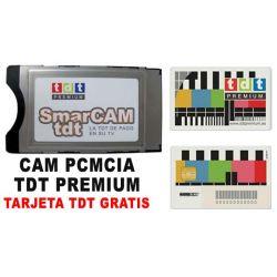 PCMCIA CAM TDT Premium + tarjeta TDT PREMIUM Goltv axn canal+ Sin permanecia Envio Gratis