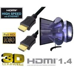 CABLE HDMI 1.4 compatible 3D high speed ethernet