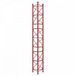 Section intermédiaire de la tour 450 galvanisée à chaud de 3m Rouge Televes