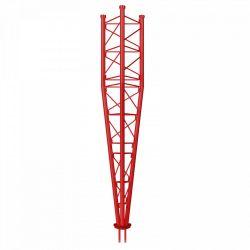Partie inférieure du bras oscillant Tourelle chaude galvanisée de 3m série 550 Red Televes
