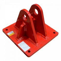 Base inclinable intégrée G. Tourelle rouge série 550 Televes