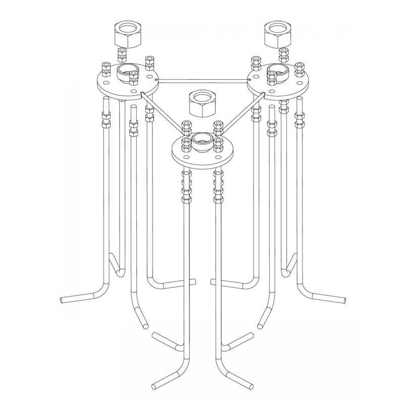 Base fixe pour pylône 550 RPR Televes