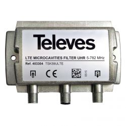 Filtro LTE/4G microcavidades UHR 5-782MHz (C.59) Televes