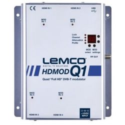 Lemco HDMOD-Q1 Modulateur 4 HDMI à 4 RF DVB-T