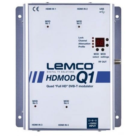 Lemco HDMOD-Q1 Modulador 4 HDMI para 4 RF DVB-T