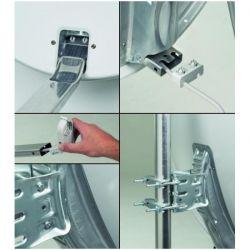 Antena Parabolica Acero galvanizado 65cm Triax Semi-Profesional. Triax 120621 TD64 TDS64