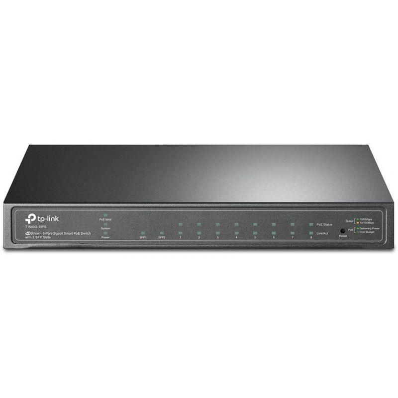TP-LINK T1500G-10PS Smart Gigabit PoE 8 Port Switch with 2 Slots SFP