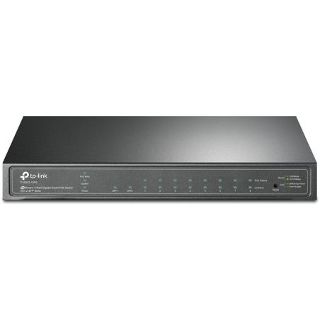 TP-LINK T1500G-10PS Smart Gigabit PoE 8 Port Switch with 2 Slots SFP