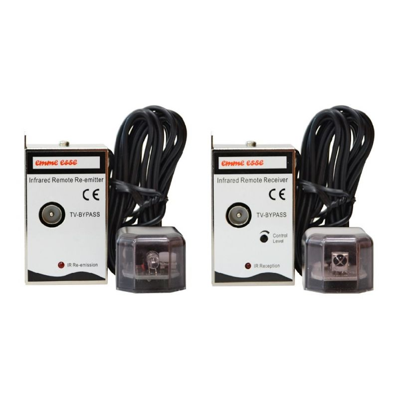Emmeesse Kit IR prolongador de infrarrojos por cable coaxial (TX + RX)