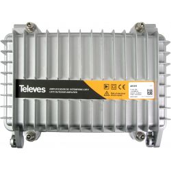 Amplificateur d'extérieur canal 1GHz passif/retour actif 5-65MHz Televes