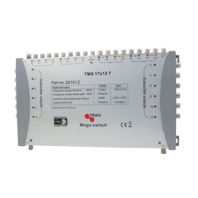 Triax - TMS 17x12T Multiswich 17E-12S