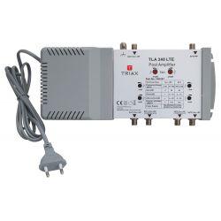 Triax Amplificateur TLA 340 LTE Entrées ligne SAT/1x Sorties TER/RP 2 SAT1+TER+RP/SAT2+TER+RP 2x (30dB TP)
