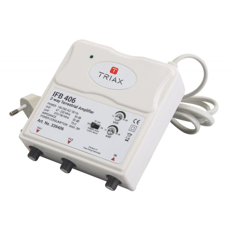Amplificador Interior TDT eco Triax IFB 405 17 dB 2 salidas