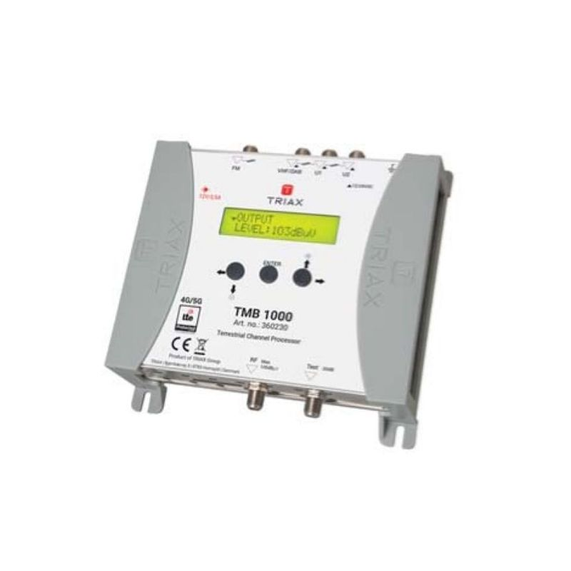 Triax TMB 1000 Central amplificadora programable 4 entradas VHF/UHF + 1FM LTE
