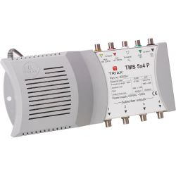 Triax TMS 5x4P Multiswitch End Switch 4 polarities + terrestrial for 4 receivers power supply included 5i/4o