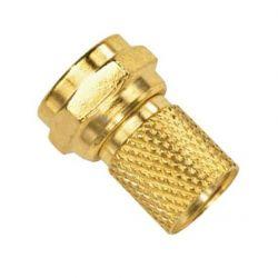F conector dourado para...