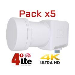 Pack 5 LNB Inverto Single...